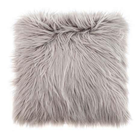 Faux Fur Grey Cushion Dunelm