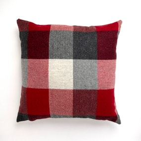 Large Heritage Check Red Cushion