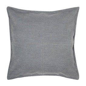 Large Grey Patchwork Felt Cushion