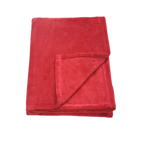 Red Soft Fleece Throw
