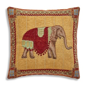 Tapestry Red Elephant Cushion
