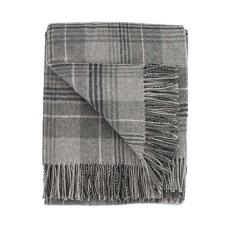 Grey Tweed Throw
