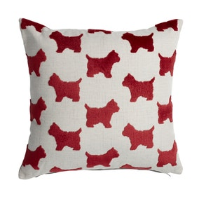 Velvet Red Dog Cushion