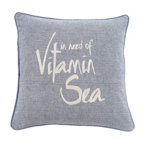 Vitamin Sea Blue Cushion