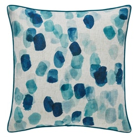 Blue Watercolour Spot Cushion