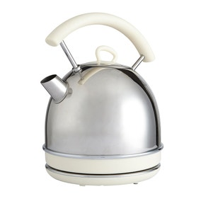 Candy Rose 1.7L Polished Steel Traditional Kettle