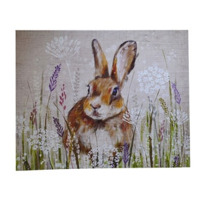 Rabbit Meadow Canvas