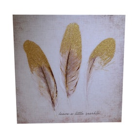 Feather Glitter Canvas
