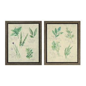 Set of 2 Herb Canvases