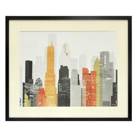 Elements City Framed Print
