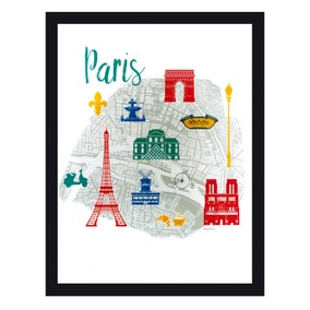 Paris Map Framed Print
