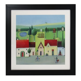 Claire Henley House Landscape Framed Print