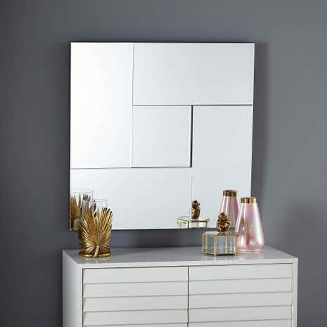 Hotel Large Square Mirror. Wall Hanging Mirrors   Wall Mirrors   Ornate Mirrors   Dunelm