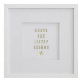 Enjoy Little Things Framed Art