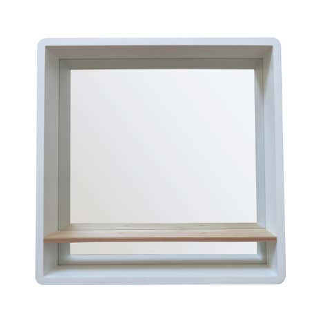 Elements mirror with shelf dunelm for Mirror with shelf