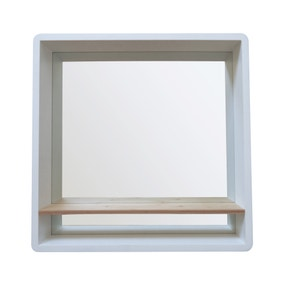 Elements Mirror with Shelf