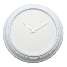 Elements White Clock