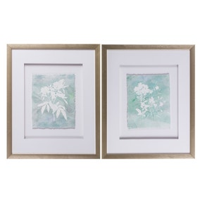 Set of 2 Raw Edge Framed Prints