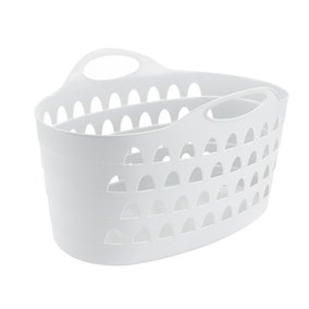 Flexi 60 Litre White Laundry Basket