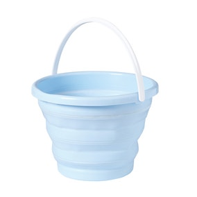 Candy Rose Blue Collapsible Bucket