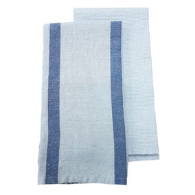 Housekeeper Linen Mix Set of 2 Tea Towel