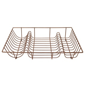Copper Effect Wire Draining Rack