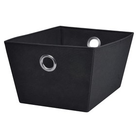 Tapered Black Fabric Box