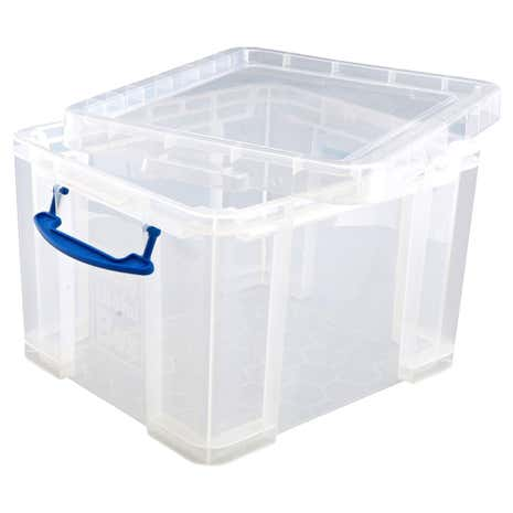 really useful 35l storage box dunelm. Black Bedroom Furniture Sets. Home Design Ideas