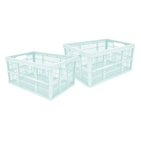 Pack of 2 Folding Crates