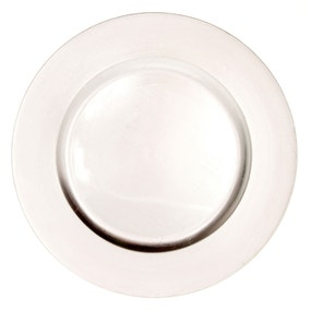 Plain Silver Charger Plate