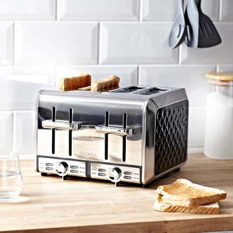 Elements Black 4 Slice Toaster