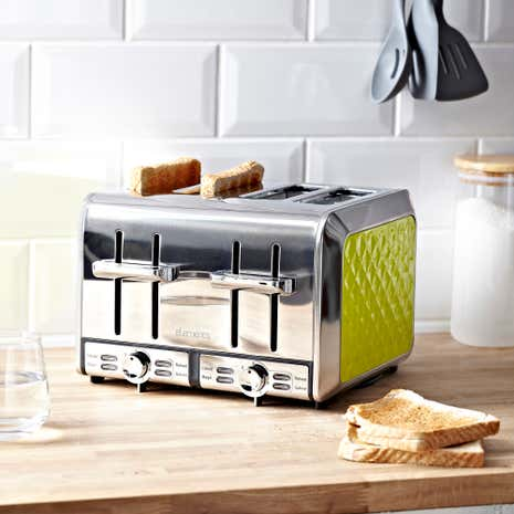 Elements Green 4 Slice Toaster