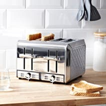 Elements Grey 4 Slice Toaster