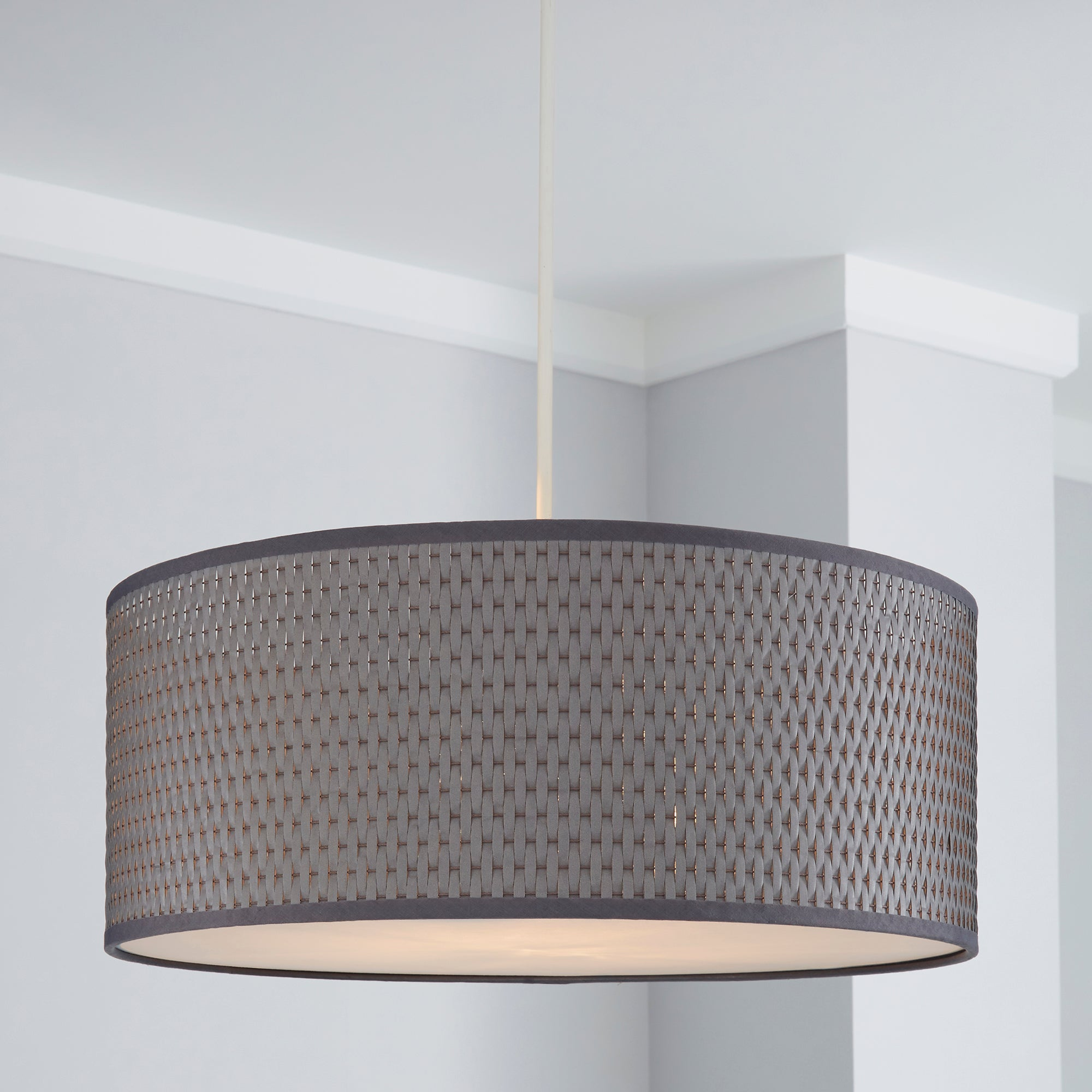 Dunelm Wall Lamp Shades : Bailey Grey Pendant Shade Dunelm