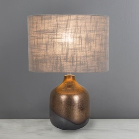 Brampton Grey Table Lamp