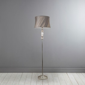 Clarence Chrome Floor Lamp