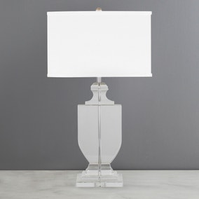 Dorma Elegance Solid Glass Table Lamp
