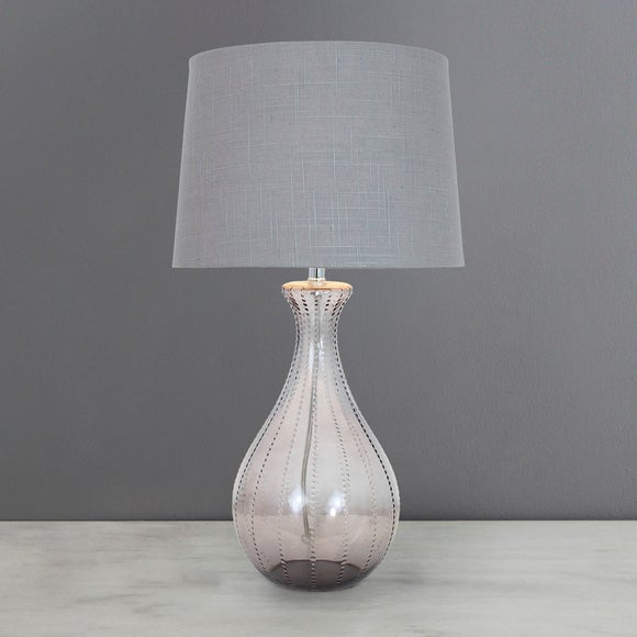 Dot Glass Table Lamp Dunelm