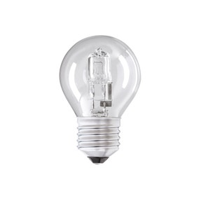 Pack of 2 Dunelm 42W Round Halogen Edison Screw Light Bulbs