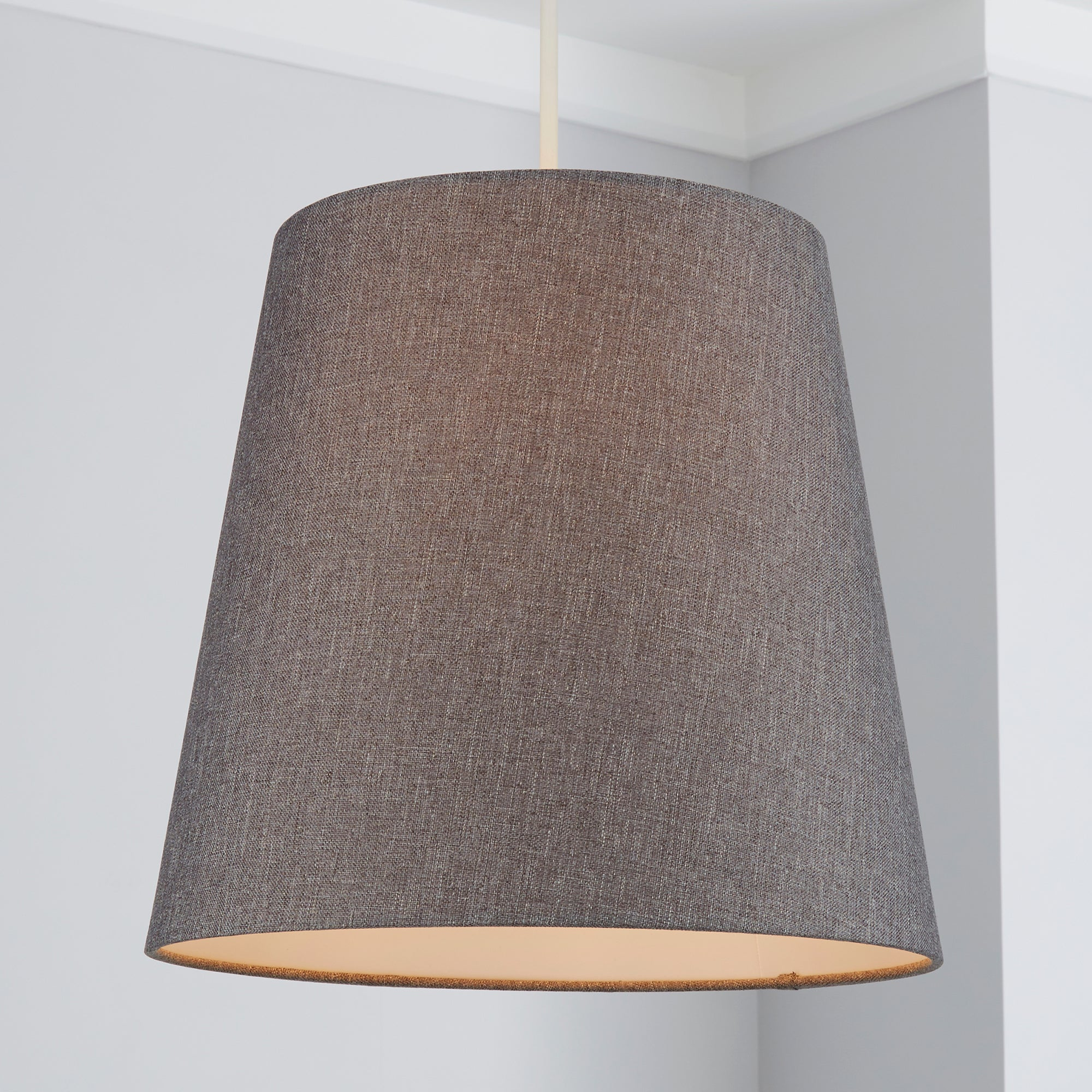 Dunelm Wall Lamp Shades : Finley Grey Light Shade Dunelm