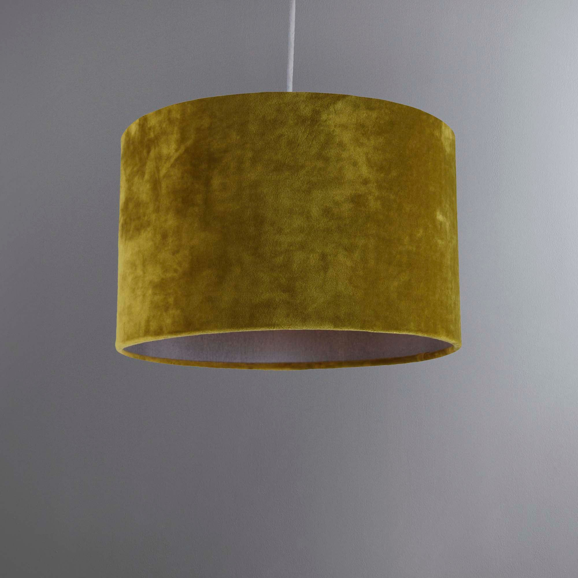 Dunelm Wall Lamp Shades : Gracen Green Velvet Light Shade Dunelm