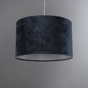 Gracen Charcoal Velvet Large Light Shade