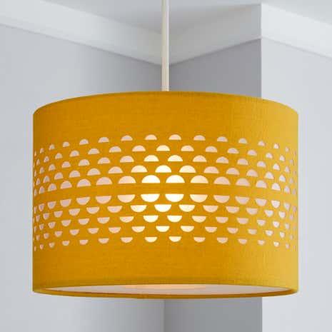 Lamp shades decorative light shades dunelm hanbury ochre cut out shade aloadofball Choice Image