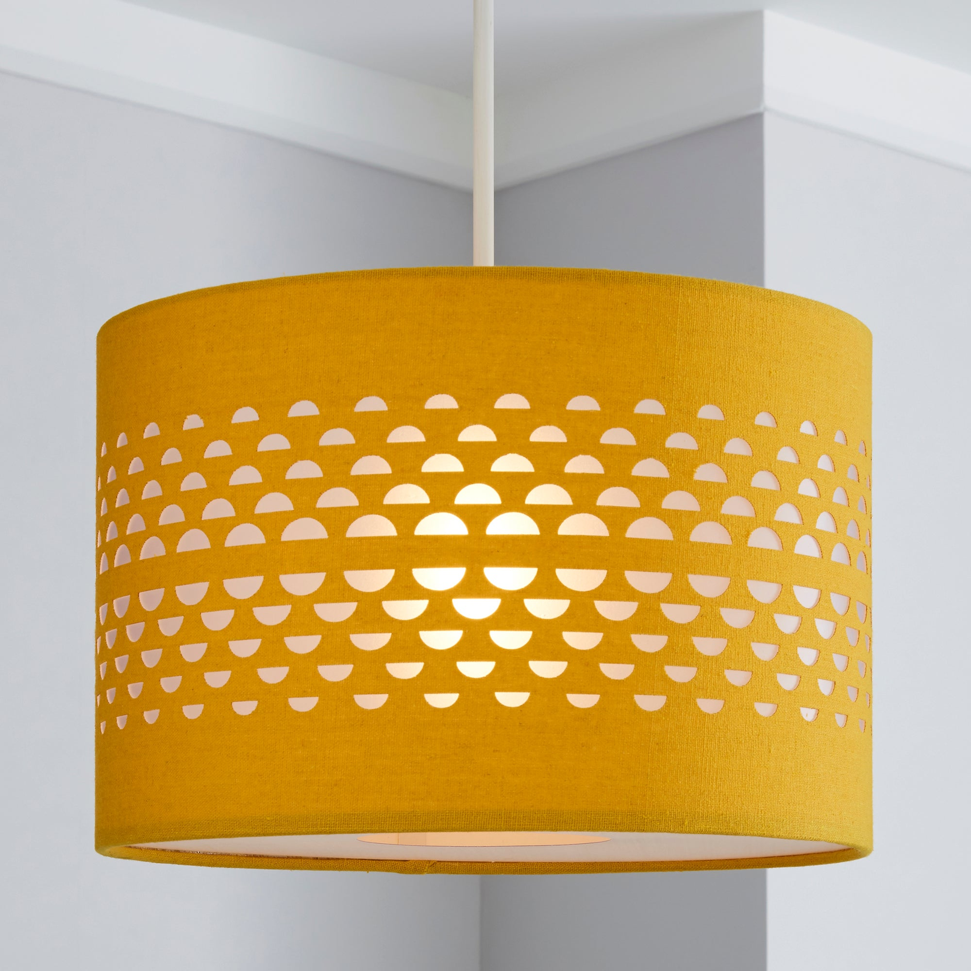 Hanbury Ochre Cut Out Shade Dunelm