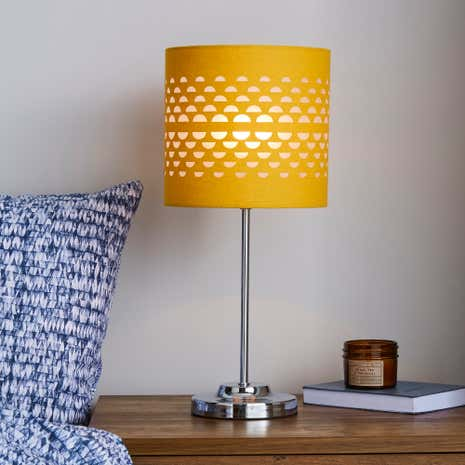 Table lamps bedside lamps desk lights dunelm hanbury table ochre lamp aloadofball Gallery