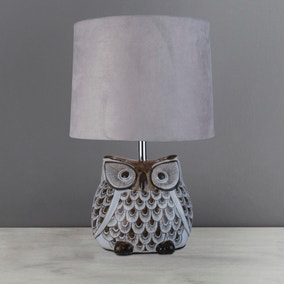 Hoot Owl Ceramic Table Lamp