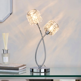 Jaimee 2 Light Chrome Table Lamp