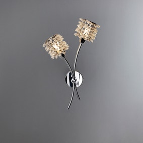 Jaimee 2 Light Chrome Wall Light