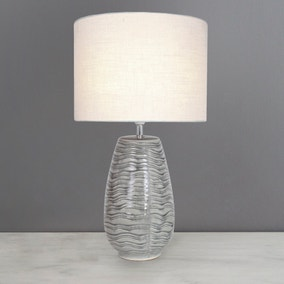 Juno Grey Table Lamp