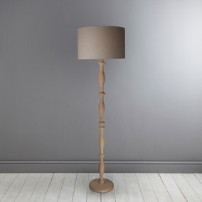 Lilith Carved Wood Floor Lamp